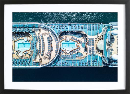 Cruise affiche sous cadre en bois