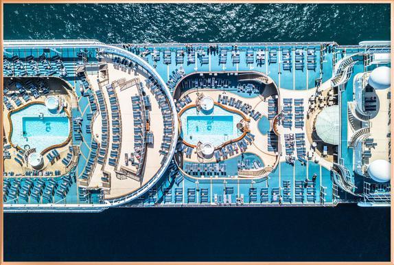 Cruise Poster im Alurahmen