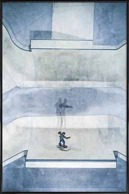 Skate Poster in kunststof lijst