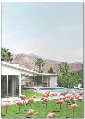 Flamingos in Palm Springs -Notizblock