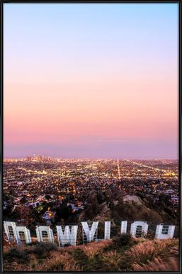 Hollywood -Bild mit Kunststoffrahmen