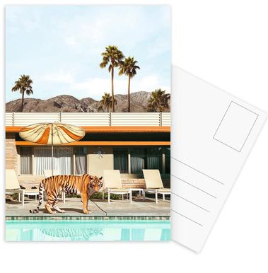 Pool Party Tiger Postkartenset