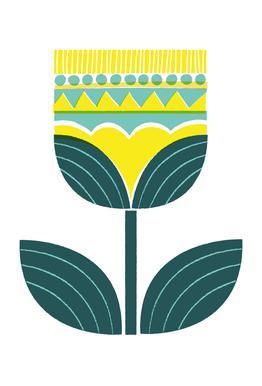 Scandinavian Flower Aluminium Print