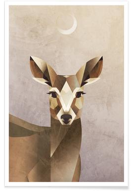 Dawn Deer Poster