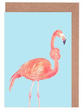 Flamingo with a Big Problem Greeting Card Set