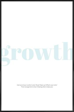 Growth -Bild mit Kunststoffrahmen