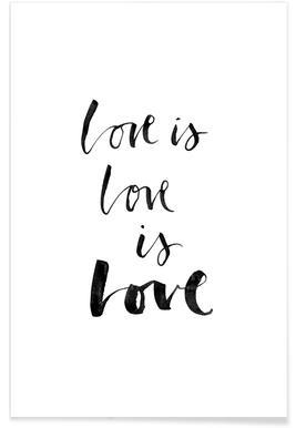 Love White Poster
