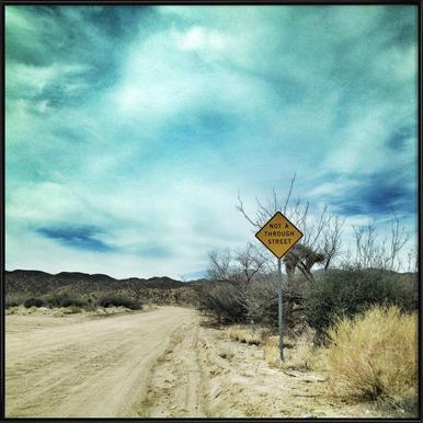 Desert Road Framed Poster