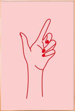 Girlboss -Poster im Alurahmen