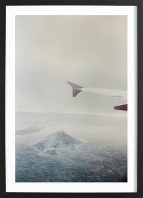 Iceland affiche sous cadre en bois