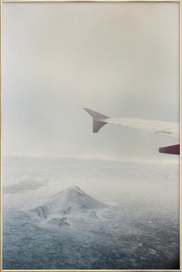 Iceland Poster im Alurahmen