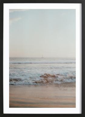 Ocean Breeze Poster im Holzrahmen