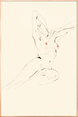 Eva -Poster im Alurahmen