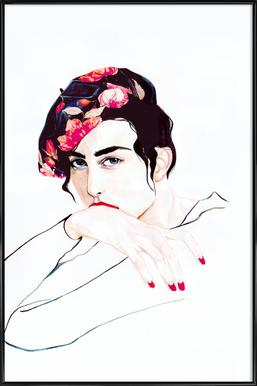 Madame Bruno -Bild mit Kunststoffrahmen