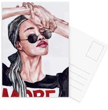 More -Postkartenset