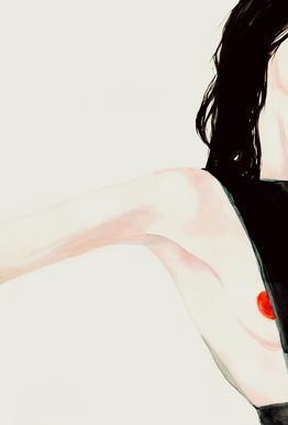 Naughty -Acrylglasbild