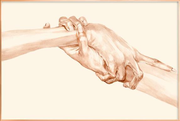 Self-Love -Poster im Alurahmen