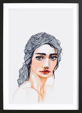 Amelie -Bild mit Holzrahmen