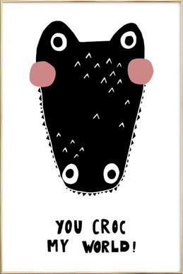 You Croc My World! -Poster im Alurahmen