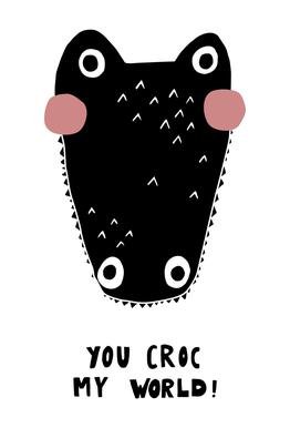 You Croc My World! -Acrylglasbild