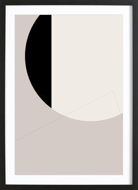 Black Side Framed Print