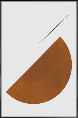 Half Cookie Poster im Kunststoffrahmen