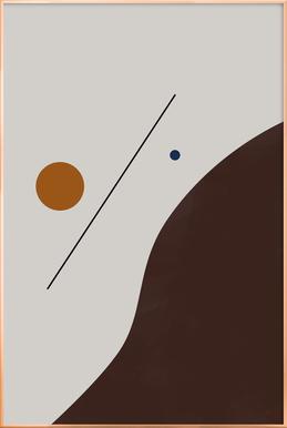 Downhill -Poster im Alurahmen