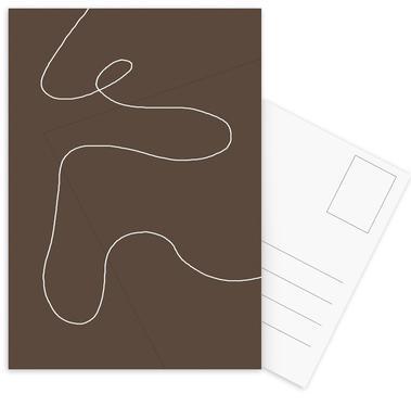 Brownie Postcard Set