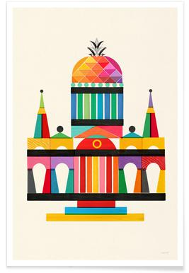 Pineapple Cathedral Poster