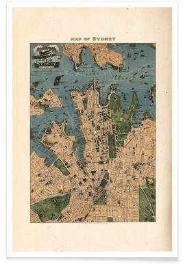 Sydney, Australia, 1922 affiche