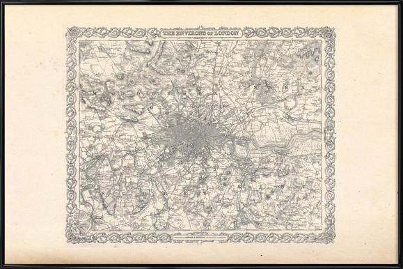 Map Of England Poster.London Colton Map Or Plan Of London England Poster Juniqe Uk