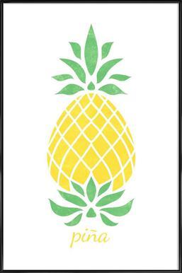 Pineapple affiche encadrée