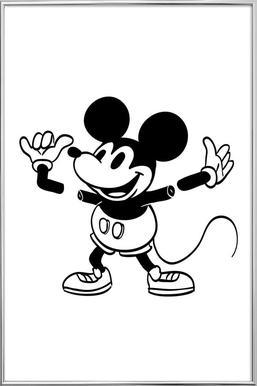 Mickey affiche sous cadre en aluminium