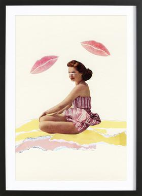 Be Mine Poster in Wooden Frame