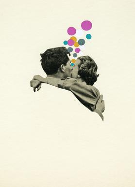 First Kiss canvas doek