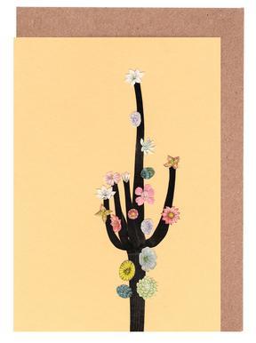 Flowering Cactus Greeting Card Set