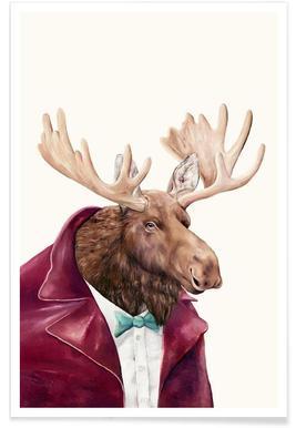 Moose Als Poster Door Animal Crew Juniqe