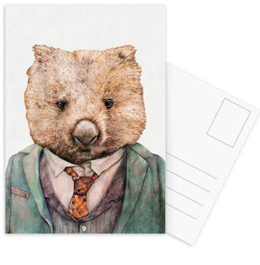 Wombat Set de cartes postales