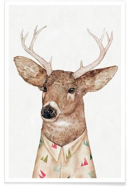 White Tailed Deer Plakat