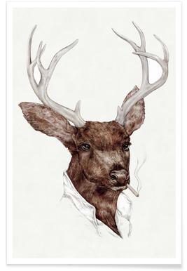 Smocking Buck Plakat