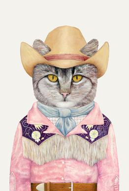 Country Cat -Acrylglasbild