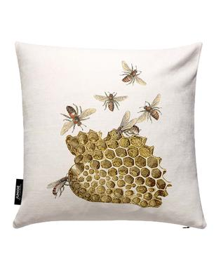 Bees and honeycomb Cushion Cover