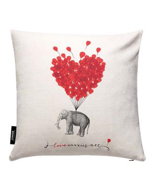 Love carries all - elephant Cushion Cover