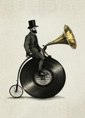 Music Man Leinwandbild
