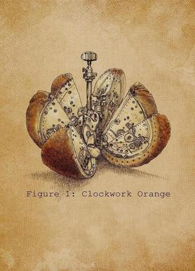 A Clockwork Orange canvas doek
