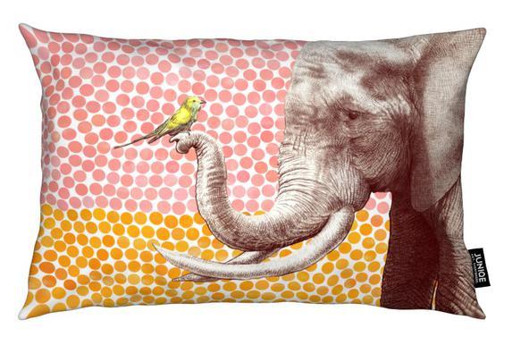 Elephant and Bird Kussen