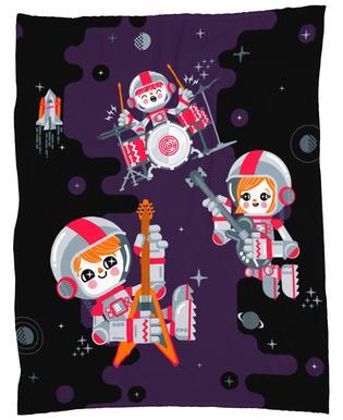 Space Rock Fleece Blanket