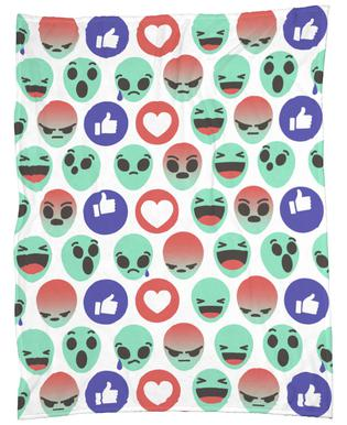 Alien Reactions Fleece Blanket
