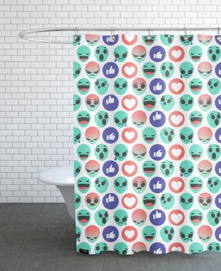 Alien Reactions As Shower Curtain By Chobopop