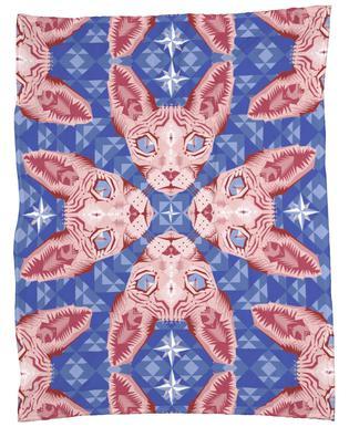 Sphynxcat Serenity Quartzrose Fleece Blanket